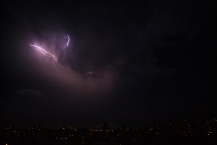 Lightning over Manhattan